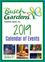 2019 busch gardens tampa bay calendar of events