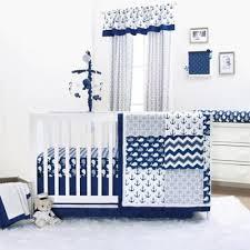 whale 4 piece crib bedding set in navy