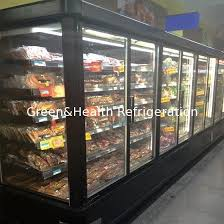 china frozen food commercial glass door refrigerator 20 c 5 layers for supermarket supplier