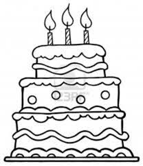 Small Picture Birthday Cake Coloring Page fablesfromthefriendscom