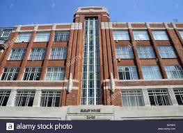 Art Deco Building In The Marylebone Area Of London England Stock