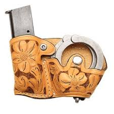 Handcuff And Magazine Holder BH100BHC Double Friend II Hand Carved Buy BH100BHC Double 8