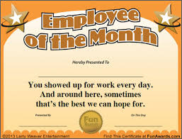 Employee Of The Week Certificate Template Example As An Extra Ideas