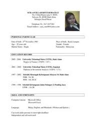 Resume Templates And Resume Examples Sample Resume Sample Resume