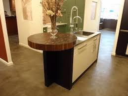 round end grain butcher block wood countertop made for bilotta kitchens