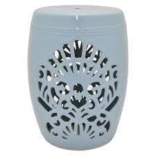 ceramic garden stool. Plain Stool Light Blue Ceramic Garden Stool To L