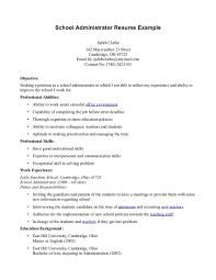 Content Of School Administrator Resumes Perfect Resume Format