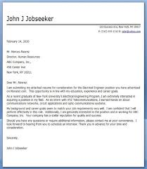 Stunning Electrical Engineering Cover Letter Examples Creative