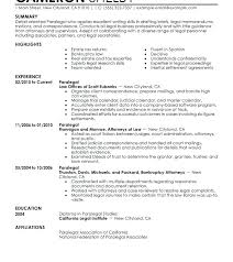 Paralegal Sample Cover Letter Agreeable Sample Paralegal Resume
