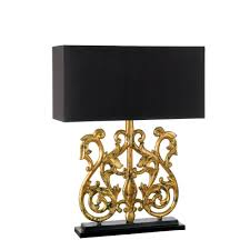 table lamp black lamp shade gold lining lamps ideas gold lamps