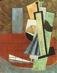 guitar and bottle pablo picasso wikipaintings org