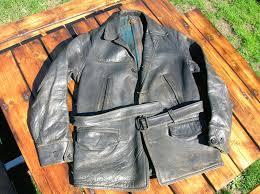 horsehide leather coat 1