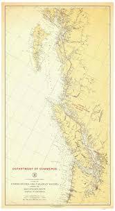 Alaska Nautical Charts Seattle To Ketchikan 1923 Nautical Map Washington Alaska Pc Big Area 239 Reprint