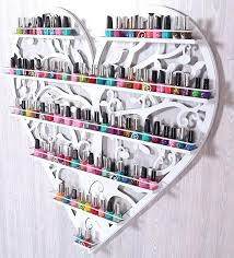 nail polish cabinet perfume iron wall rack shelf display mount makeup in figurines miniatures from