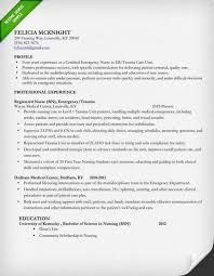 Example Of A Nursing Resume