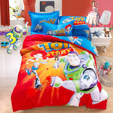 Wholesale- Cartoon Toy Story Kids Bedding Set Twin Queen King Size ... & Wholesale- Cartoon Toy Story Kids Bedding Set Twin Queen King Size  Comforter Cover Bed Sheets Adamdwight.com
