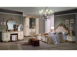 Schlichter Schlafzimmer Set Shirin 7 Teilig Goldcreme Schrank