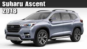 subaru 7 passenger 2018. beautiful passenger all new 2018 subaru ascent preproduction concept 3row 7seat suv and subaru 7 passenger u