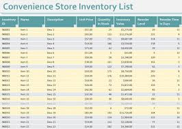 How To Do An Inventory List Convenience Store Inventory List Convenience Store Stock List