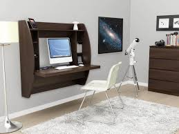 office desk with storage. The Floating Desk Is A Great Space Saver Thats Attached Directly To Wall Office With Storage