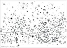 Santa And Reindeer Coloring Pages And Reindeer Coloring Page S S