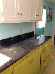 Formica Kitchen Cabinet Doors Faux Soapstone Countertops Painted Onto Existing White Formica