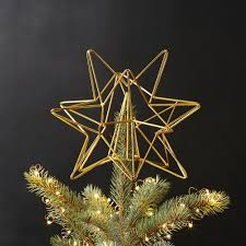 Ballard Designs Angel Tree Topper Gold Star Tree Topper By Cb2 Christmas Tree Toppers
