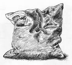 pillow drawing realistic. charcoal pillow royalty-free stock photo drawing realistic i