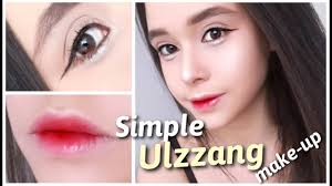 simple ulzzang make up sem circle lens e cílios postiços
