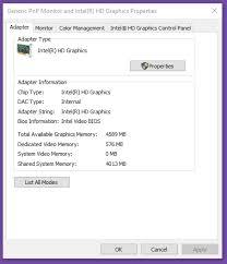 Windows Dedicated Memory - User Registry Graphic Card Super Changing Intel Hd