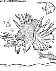Small Picture tropical fish coloring book sketch template tropical fish