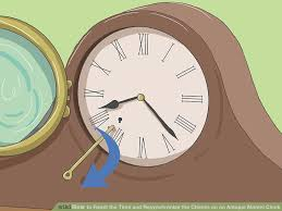 image titled reset the time and resynchronize the chimes on an antique mantel clock step 2
