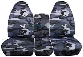 dodge ram 40 20 40 gray camo seat covers