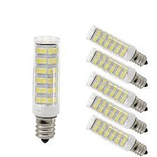 120v Light Bulb Szulight Led E12 Led Light Bulb 120v 6000k Daylight White 6w Led E12 Candelabra Screw Base Xenon T4 Jd Type Led Halogen Bulb Replacement 50w Or 60w