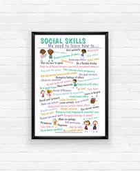 Free Printable List Of 50 Social Skills For Kids And Next