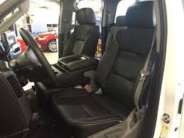 2016 2017 18 chevrolet silverado double cab katzkin black leather seats wt bench