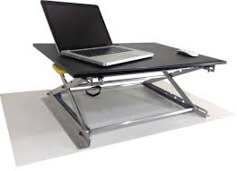 riseup standing desk adjule and portable sit or stand desk