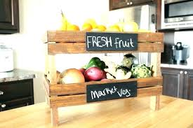 kitchen storage ideas fruit basket counter solutions awesome 2 tier corner