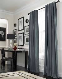 Curtains:Velvet Grey Curtains Cool Grey Curtain Ideas For Large Windows  Modern Home Office Table