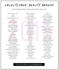 list on free beauty brands that don t test on s