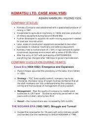 Komatsu Ltd  Case Solution Prezi