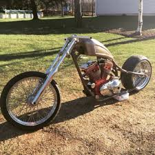 custom chopper build sportster engine red barron frame