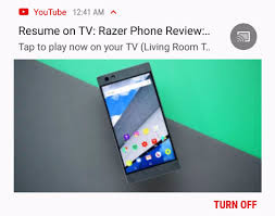 App Resume Youtube Notification Offers To Resume A Paused Video On Your