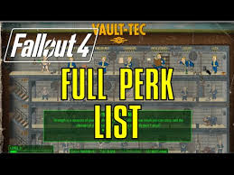 Fallout 4 Full Perk List Chart Every Perk With All Ranks