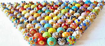 50 Pc Pull Cabinet Ceramic Decorative Assorted Kitchen Door Knob