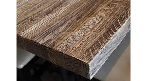 solid oak butcherblock restaurant table bengal finish detail