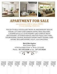 House For Rent Flyer Template Word Apartment For Sale With Tear Off Free Flyer Templates