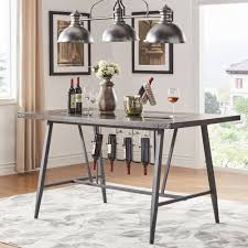 Wine rack dining table Bench Harley Counter Height Dining Table With Wine Rack By Inspire Modern Overstock Shop Harley Counter Height Dining Table With Wine Rack By Inspire