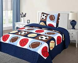 sports themed bedding size quilt bedspread set kids sports bedroom bedding bedspreads coverlets basketball football