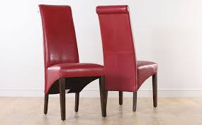 2 4 6 8 boston red leather dining room chairs wen leg ebay red leather dining